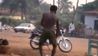 Funny Naked African Man Dancing Makossa