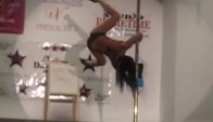 Miss Georgia Pro WInner Nicki Shaw pole dance atlanta