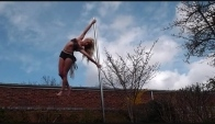 My tribal pole dance freestyle outside