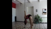 Pole Dance - Training Iguana mount to Yogini