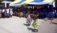 Pupils of Bright School Complex doing an adowa dance