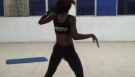 Queen Latesha dancing exercise