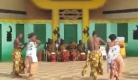 Traditional Ashanti dancers and drummers